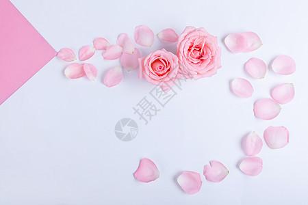 粉色情人节背景素材图片