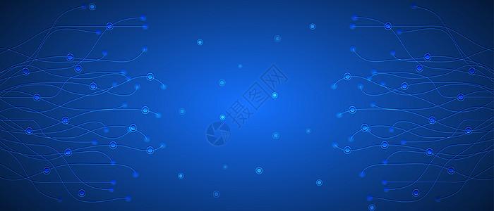 蓝色酷炫科技背景图片