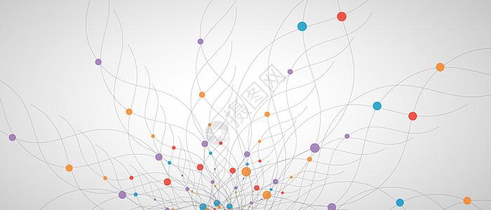 抽象几何大数据背景图片