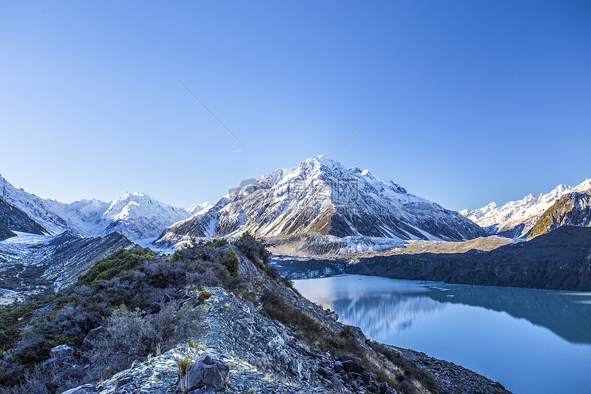新西兰库克山地质公园冰川地貌图片