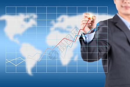商务金融经济信息走势图片