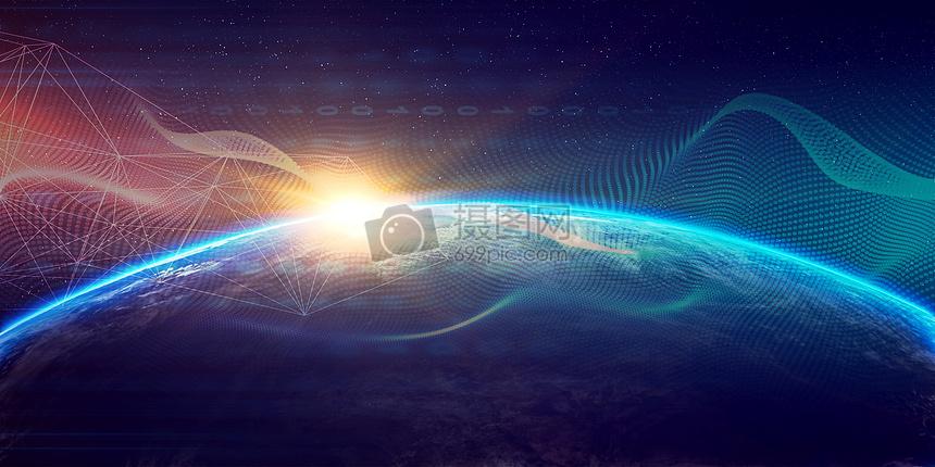 宇宙科技线条图片