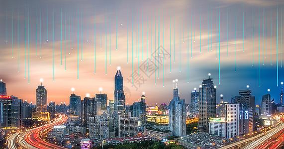 科技光纤与城市信息交流图片