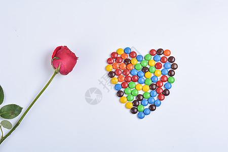 玫瑰花与巧克力图片