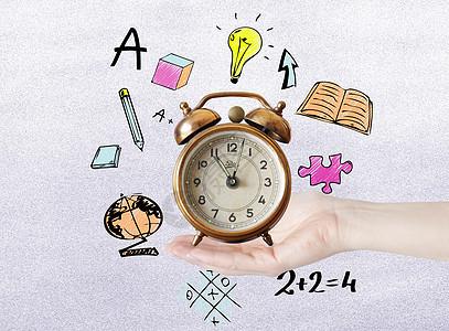 时间与文具矢量图标图片