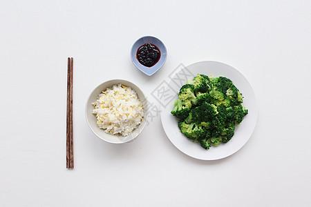 西兰花蛋炒饭一人食图片