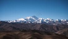 远眺珠穆朗玛峰图片