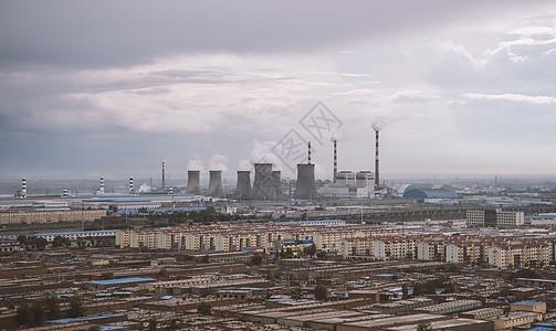 排污的工厂图片