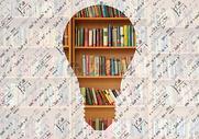 图书馆思考图片