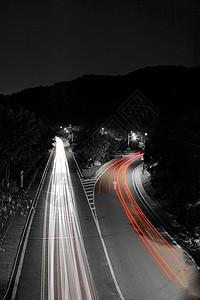 流动的城市车流光影图片