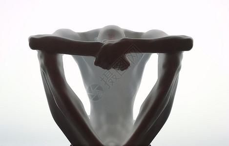 沉思者雕塑图片