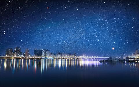 夜晚城市背景图图片