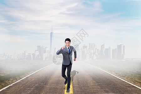 奔跑的商务人士图片