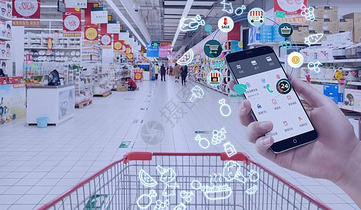 商场超市购物手机支付图片