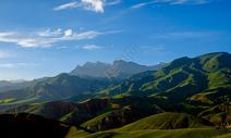 祁连卓尔山雪山图片
