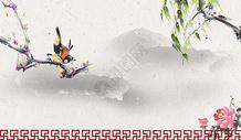 中国风花鸟图图片