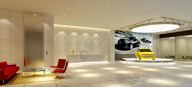 某汽车展览堂效果图图片
