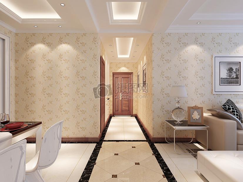 标签: 沙发玄关效果图走廊欧式吊顶家装效果图地砖拼花室内效果图