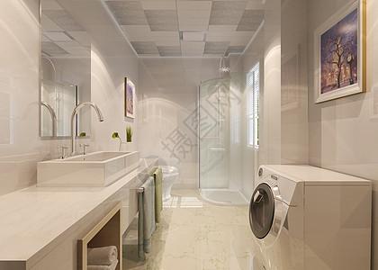 家装卫生间效果图图片