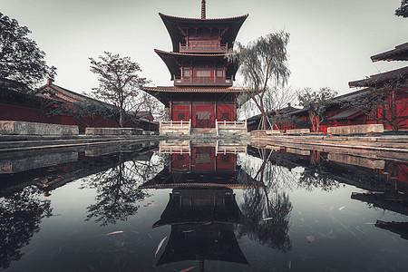 广富林古塔寺庙图片