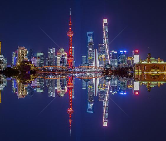 上海陆家嘴三件套图片
