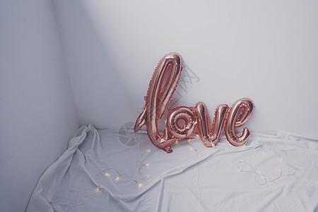 love气球和星星灯图片