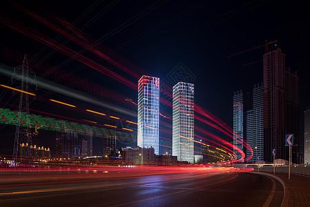 城市建筑夜景风光图片