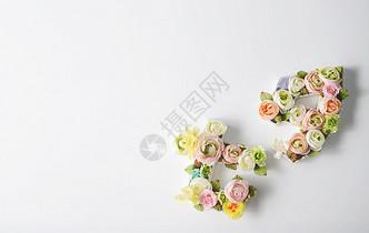 七夕字爱情白背景素材图片