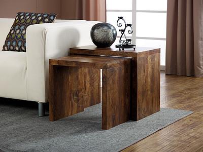 欧美家居家具客厅边桌双层图片