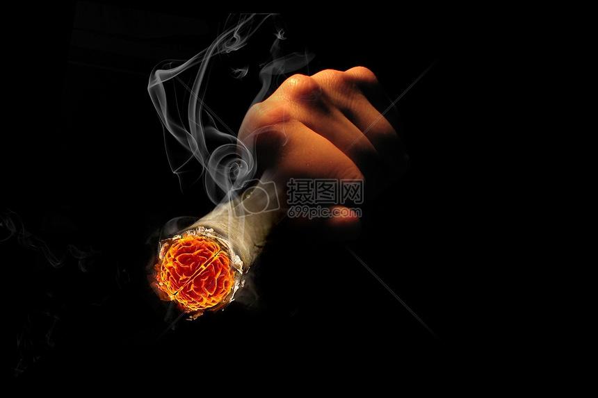 吸烟有害健康图片