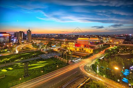 西安南门夜色图片