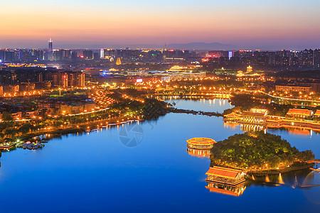 曲江池夜色图片
