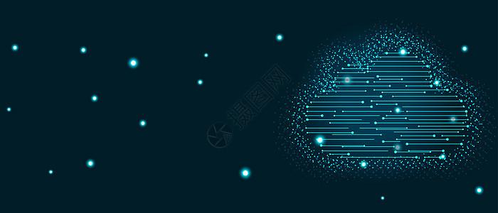 网络云科技海报背景图片
