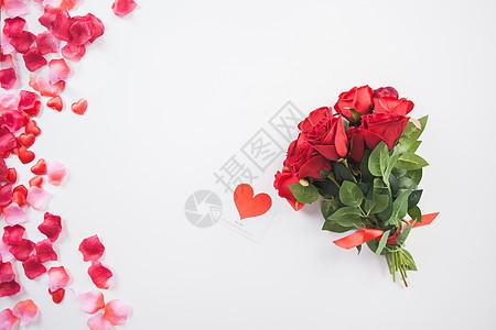 玫瑰花与贺卡图片