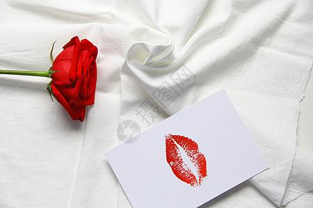 ins风格七夕情人节红玫瑰背景素材图片
