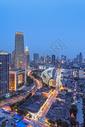 夜色阑珊的城市建筑风光图片
