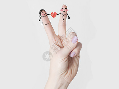 手指幸福小人图片