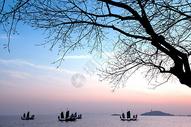 太湖夕照图片