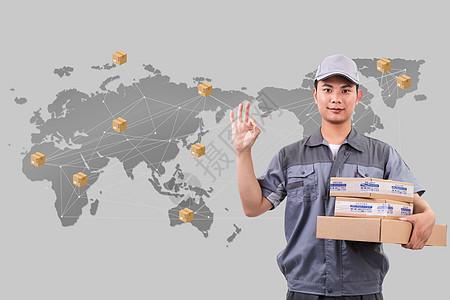 科技物流全球化图片