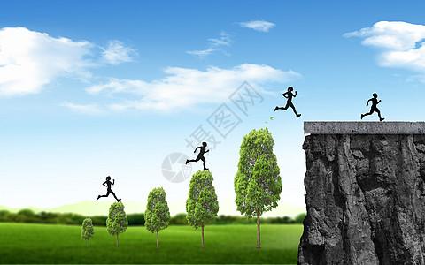 奔跑中的运动者图片