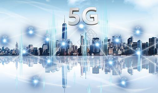 现代金融城市背景图片