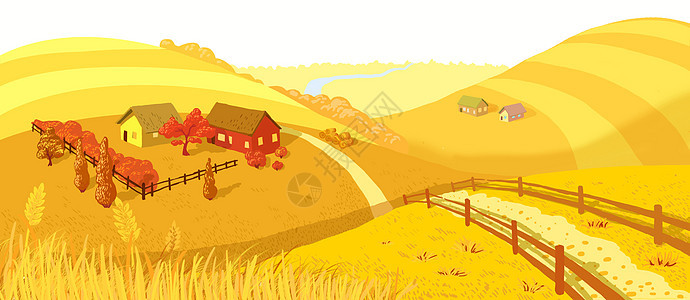 秋日农场图片