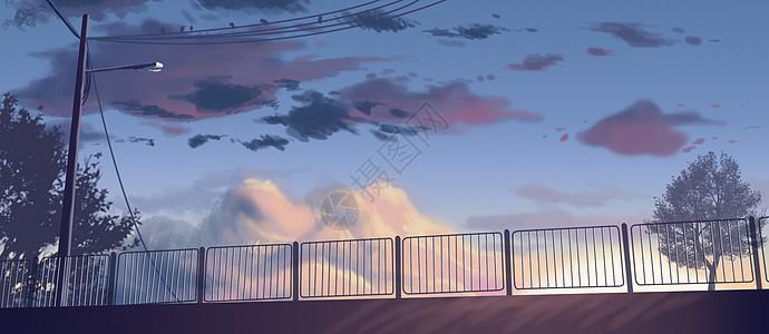 傍晚天空图片