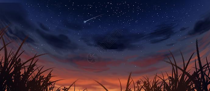傍晚星空图片
