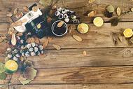 相机落叶水果素材图图片