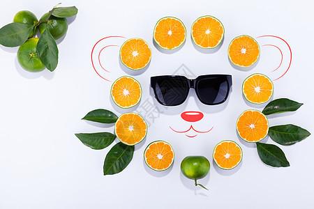 蜜桔创意素材图片