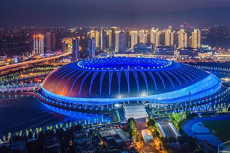 天津体育馆夜景图片