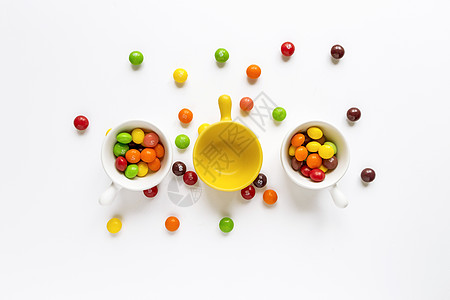 五彩缤纷的美味糖果图片
