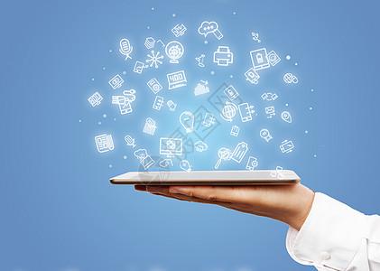 网络平板科技图片