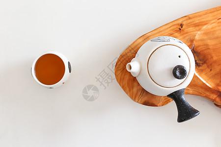 红茶茶艺茶文化白底静物图片